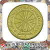 Beautiful Commemorative Metal Coin with Antique Brass Plating