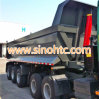 Vietnam popular 3 axles U shape dump trailer
