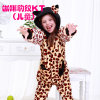 Kuka Cute Cartoon Leopard Kitty Onesie Cosplay Costume Pajama