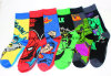 Mens Cotton Socks Marvel Comics Superhero Casual Knee Socks
