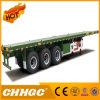 Chhgc 3 Axle Light Duty Flatbed Container Semi Trailer