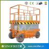 10m Cargo Type Electric Hydraulic Scissor Lift with Platform Ce