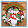 Christmas Decorations Door Rattan Circle Wreath Plush Snowman Santa Elk Gift