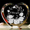 Heart-Shaped Crystal Ornament for Holiday Gifts or Souvenir