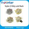 Jewelry USB Flash Memory Cartoon Kitty USB Pendrive
