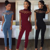Fashion Hollow out   Women Sexy Jumpsuits (80024)