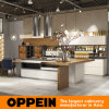 Guangzhou Canton Fair Modern Milan Style Kitchen Cabinets with Island (OP16-L24)