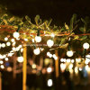 Globe String Lights Globe Bulbs Black Wire Indoor Outdoor Patio String Light Extendable
