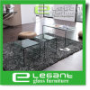 Modern Furniture Clear Tempered Glass Top Center Coffee Table