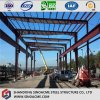 Steel Flat Roof Open Shed Structure with Overhead Cranes