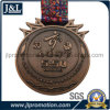Customer Shape High Quality Metal Medal with Ribbon