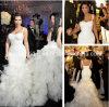 Lace Wedding Gowns White Organza Lace Bodice Kim Kardashian Wedding Dresses Vestido De Noiva Backless Bridal Wedding Dresses W149