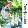 Acrylic DIY Coloring by Numbers Kit Paint Your Own Canvas Little Girl Picture