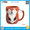 Wholesale Red Fox Shape Ceramic Water Cup