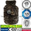 CE Fur Faux Plush Leopard Hot Water Bottle Cover