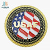 Custom Zinl Alloy Enamel Metal Medal with Gold Plated