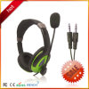 Double Plug Headphone OEM Promotional Headset with Mic