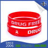 Fashion Design 3/4 Inch Ink Filled Promotional Silicone Wristband