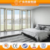 Weiye Aluminium Factory 135 Series Two Tracks Four Panel Glass Aluminium Sliding Door with Mesh