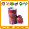 Custom Round Tea Tin with Airtight Inner Lid and Rivet, Tea Caddy, Metal Tin Box, Food Packaging ...