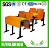 University Classroom Desk and Chair Sets Folding Wooden Lecture Room College Desks and Chairs