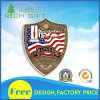 Coin in Shield Shape and Flag Image Color Infilled