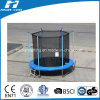 Custom Made Round Trampoline with Enclosure Outside