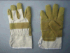 Yellow Vinyl Impregnated Artificial Leather Gloves (2809)
