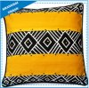 Home Decoration Black/Yellow Design Printed Throw Pillow