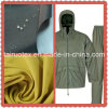The Waterproof Taslon Fabric with PU Coated Finish for Garment