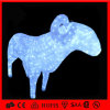 Outdoor Animated Acrylic Lighted LED Christmas Lying Goat Light (OB-CL-0420327)