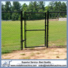 Black PVC Coated Steel Chain Link Fence Fabric Design