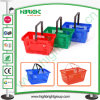 Single Handle Plastic Shopping Basket for Supermarket
