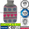 CE Heart Snow Hot Water Bottle Knit Cover