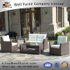 Well Furnir WF-17007 Patio Wicker 4 Piece Seating Group with Cushions