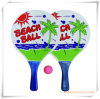 Customize Wooden Beach Racket with Ball for Promotion (OS05001)
