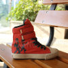 New Ladies Casual Lace up Canvas Ankle Rubber Boots (SNC-02165)