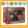 Rectangular Metal Tin Box with Clear PVC Window for Toys