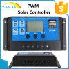 12V/24V Dual USB-5V/3A Solar Panel-Charge Controller Rbl-20A