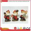 Customized OEM Polyresin Gnome with Rake Pliers Lantern Mushroom Light Dwarf Statue