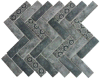 Newest Technology Full Body Herringbone Glass Mosaic