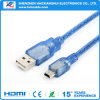Cheap Price Blue Transparent Mini Cable USB 2.0