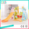Indoor Plastic Slide and Swing Set with Food Table and Safe Panel (HBS17006A)