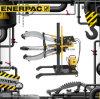 Original Enerpac Posi Lock 100 Ton Hydraulic Grip Pullers
