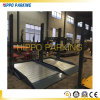 Hydraulic Double Deck Two Post Simple Car Parking System for Public Garage Use