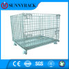 Foldable and Stackable Euro-Style Wire Container with Ce Approved