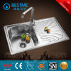 Stainless Steel One Stretched Kitchen Sink Single Bowl with Board
