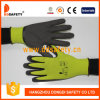 Ddsafety 2017 13 Gauge Lemon Green Nylon or Polyester Shell Brown Nitrile Coating