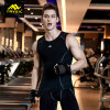 Men Sports Wear Fitness Shirt Tight Vest for Gym