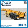 20 Feet 2 Axle Skeletal Container Semitrailer